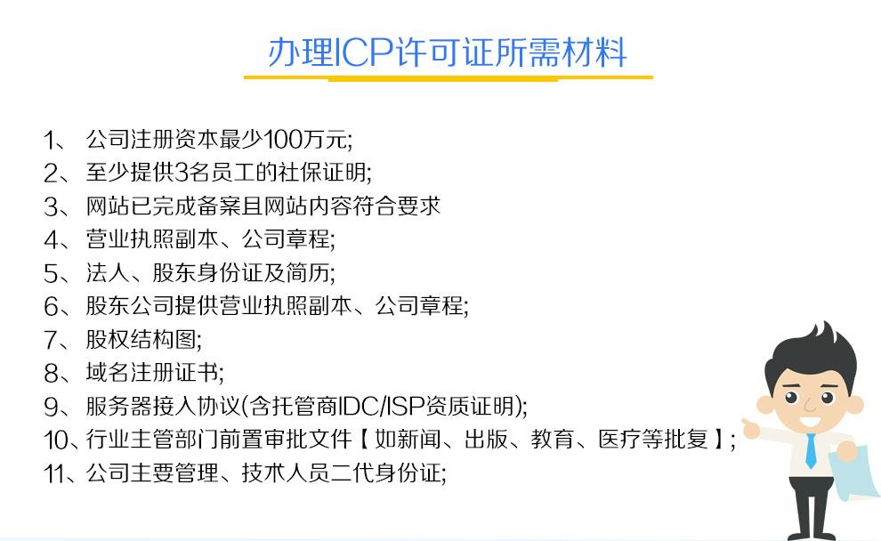 ICP许可证办理材料